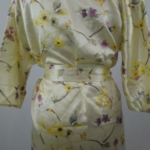 Gabrielle Intimates & Sleepwear - Vintage Silky Nightgown and Robe Yellow Floral